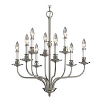 Progress Lighting Richmond Hill 9 Light Chandelier in Brushed Nickel P4451-09
