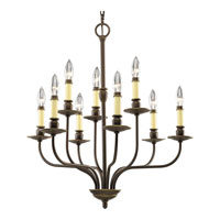 Progress Lighting Richmond Hill 9 Light Chandelier in Antique Bronze P4451-20