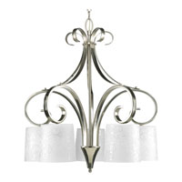 Progress Lighting Nicollette 5 Light Chandelier in Brushed Nickel P4453-09 photo thumbnail