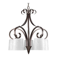 Progress Lighting Nicollette 5 Light Chandelier in Copper Bronze P4453-124