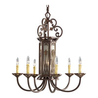 Progress Lighting Thomasville Drayton Hall 6 Light Chandelier in Aged Mahogany P4454-75