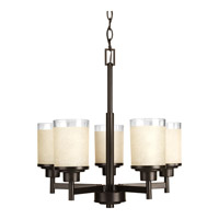 Progress P4459-20 Alexa 5 Light 20 inch Antique Bronze Chandelier Ceiling Light