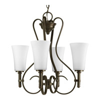 Progress Lighting Flirt 4 Light Chandelier in Antique Bronze P4460-20