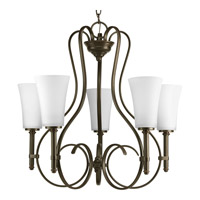 Progress Lighting Flirt 5 Light Chandelier in Antique Bronze P4461-20