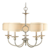 Ashbury 5 Light 28 inch Silver Ridge Chandelier Ceiling Light