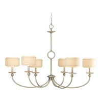 Ashbury 6 Light 46 inch Silver Ridge Chandelier Ceiling Light