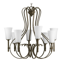Progress Lighting Flirt 8 Light Chandelier in Antique Bronze P4469-20