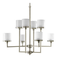 Progress Lighting Encore 8 Light Chandelier in Brushed Nickel P4476-09WB