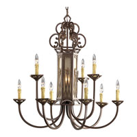 Progress Lighting Thomasville Drayton Hall 9 Light Chandelier in Aged Mahogany P4480-75