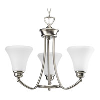 Progress Lighting Janos 3 Light Chandelier in Brushed Nickel P4481-09EBWB