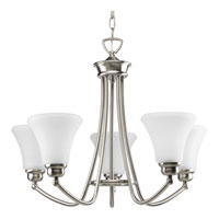 Progress Lighting Janos 5 Light Chandelier in Brushed Nickel P4483-09EBWB