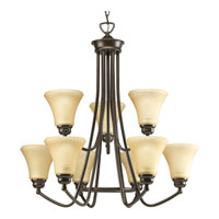 Progress Lighting Janos 9 Light Chandelier in Antique Bronze P4488-20 photo thumbnail
