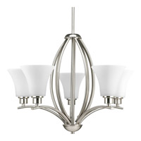 Joy 5 Light 24 inch Brushed Nickel Chandelier Ceiling Light in Etched