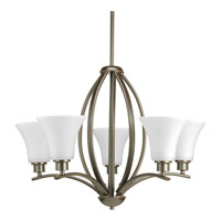 Joy 5 Light 24 inch Antique Bronze Chandelier Ceiling Light in Etched