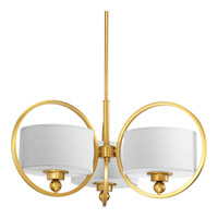 Harmony 3 Light 27 inch Natural Brass Chandelier Ceiling Light