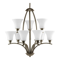 Joy 9 Light 28 inch Antique Bronze Chandelier Ceiling Light in Etched