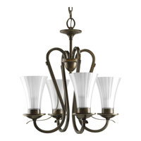 Progress Lighting Melody 4 Light Chandelier in Oil Rubbed Bronze P4493-108