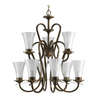 Progress Lighting Melody 9 Light Chandelier in Oil Rubbed Bronze P4495-108