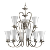 Progress Lighting Melody 9 Light Chandelier in Antique Nickel P4495-81