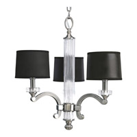 Progress P4500-101 Roxbury 3 Light 20 inch Classic Silver Chandelier Ceiling Light