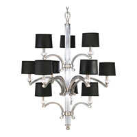 Progress Lighting Thomasville Roxbury 12 Light Chandelier in Classic Silver P4502-101