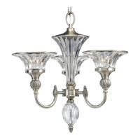 Roxbury 3 Light 19 inch Classic Silver Chandelier Ceiling Light