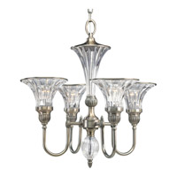 Roxbury 4 Light 22 inch Classic Silver Chandelier Ceiling Light