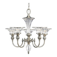 Progress P4506-101 Roxbury 5 Light 24 inch Classic Silver Chandelier Ceiling Light photo thumbnail
