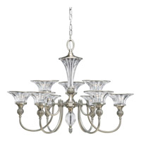 Progress Lighting Thomasville Roxbury 9 Light Chandelier in Classic Silver P4507-101