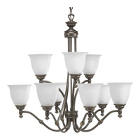 Renovations 9 Light 30 inch Forged Bronze Chandelier Ceiling Light