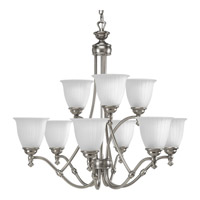 Renovations 9 Light 30 inch Antique Nickel Chandelier Ceiling Light