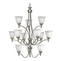 Renovations 12 Light 33 inch Antique Nickel Chandelier Ceiling Light