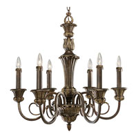 Progress Lighting Thomasville La Serena 6 Light Chandelier in Aged Mahogany P4517-75
