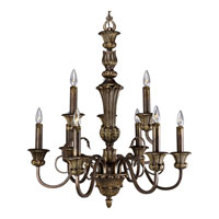Progress Lighting Thomasville La Serena 9 Light Chandelier in Aged Mahogany P4518-75