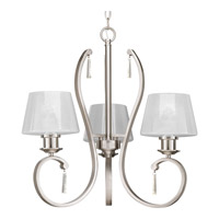 Dazzle 3 Light 23 inch Brushed Nickel Chandelier Ceiling Light