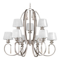 Progress Dazzle 9 Light Chandelier in Brushed Nickel P4525-09