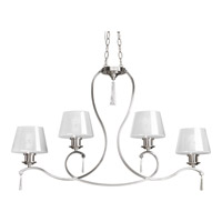 Dazzle 4 Light 38 inch Brushed Nickel Chandelier Ceiling Light