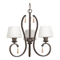 Progress Club 3 Light Chandelier in Antique Bronze P4527-20