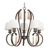 Club 5 Light 27 inch Antique Bronze Chandelier Ceiling Light