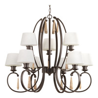 Progress Club 9 Light Chandelier in Antique Bronze P4529-20