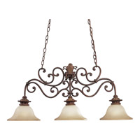 Progress Lighting Thomasville Messina 3 Light Chandelier in Aged Mahogany P4533-75