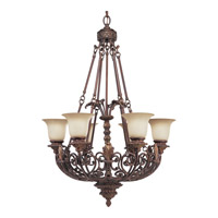 Progress Lighting Thomasville Messina 6 Light Chandelier in Aged Mahogany P4535-75