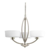 Progress Lighting Calven 3 Light Chandelier in Brushed Nickel P4537-09