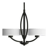 Calven 3 Light 25 inch Forged Black Chandelier Ceiling Light in Opal Linen