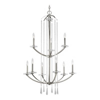 Progress Lighting Thomasville Nisse 9 Light Chandelier in Polished Nickel P4538-104