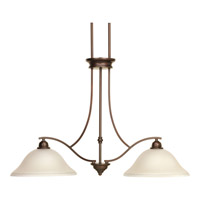 Spirit 2 Light 36 inch Antique Bronze Linear Chandelier Ceiling Light