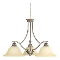 Progress Spirit 3 Light Chandelier in Pebbles P4559-144