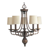 Progress Lighting Thomasville Meeting Street 5 Light Chandelier in Roasted Java P4566-102
