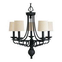 Progress Lighting Thomasville Meeting Street 5 Light Chandelier in Forged Black P4566-80