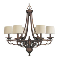 Progress Lighting Thomasville Meeting Street 6 Light Chandelier in Roasted Java P4567-102